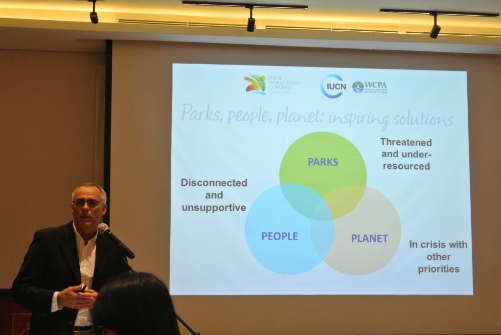 IUCNの世界保護地域プログラムディレクターのトレバー氏