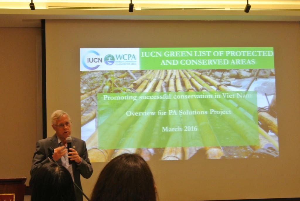 グリーンリストの仕組み作りの当初から関わっている、IUCN保護地域委員会のマーク氏