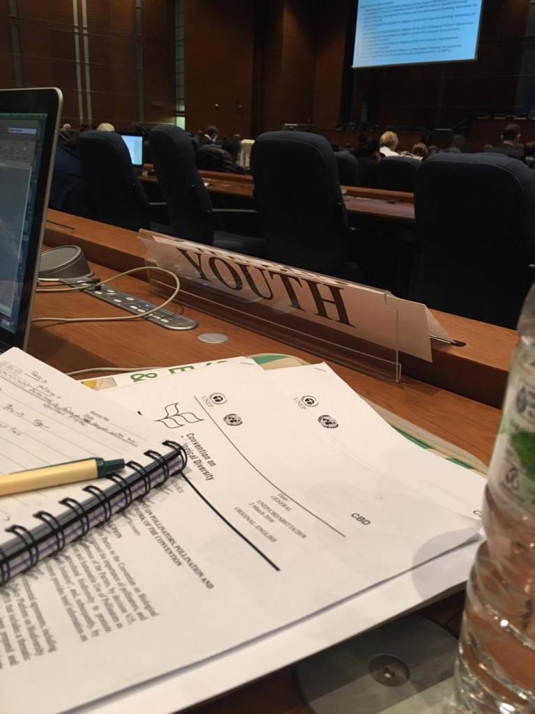 Global Youth Biodiversity Networkの席。
