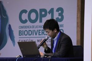 企業の取組について発表したのは、電気電子4団体生物多様性ワーキンググループの阿部さんと!