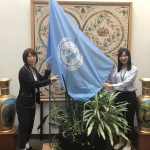 国連の旗(国連環境計画)のもとで運営されている生物多様性条約事務局